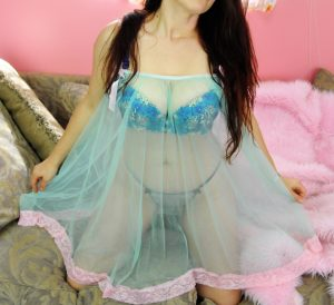 Sissy sheer nightgown Nightie Peignoir